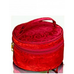 Red Swirl Cosmetic Bag