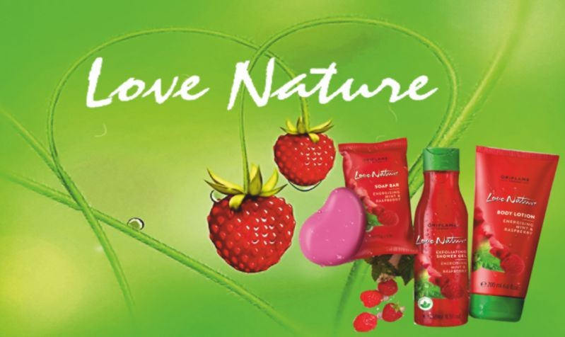 #Love Nature Body Lotion Mint & Raspberry